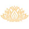 Beige Icône de Lotus Remise en Forme Fitness Logo (6)